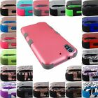 FOR HTC DESIRE PHONE MODELS SHOCK PROOF DUAL LAYER TUFF ARMOR CASE COVER+STYLUS