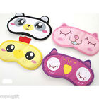 Lovely Cute Animal Sleep Mask Eye Travel Sleeping Aids Relief Cover Eyeshade