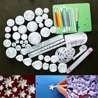 62pcs Cake Decorating Mould Tools Set Icing Topper Cookies Sugarcraft Cutters