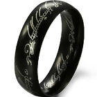LOTR Lord of Ring Wedding Titanium Gothic Jewelry Gold Black Silver Size 7 to 11