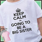 KEEP CALM I'm going to be a BIG SISTER Shirt or Bodysuit baby announcement