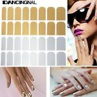 Mode 16pcs Autocollant Stickers Foil Patch Vernis Gel Ongles Décoration Nail Art