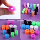 Pick Star Flexible Silicone Double Flared Ear Tunnel Plugs Expander Stretcher