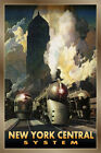New York Central System Railroad Train Streamliners Poster Art Deco Print 245