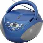 Portable CD Player/Radio with Aux In for iPhone/MP3 Earphone Jack and 2 Speaker