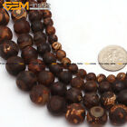 "Natural Stone Dzi Tibet Agate Evil Eye Beads For Jewelry Making 15"" 6mm-12mm"