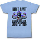 Macho Man Randy Savage Sick Puppies Heather Blue T-shirt