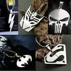 New Style Marvel Super Hero Steel Necklace Anime Chain Pendant Cosplay Gift