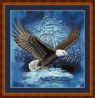 EAGLE SYMBOL -  14 COUNT CROSS STITCH CHART (DMC THREADS) FREE PP WORLDWIDE