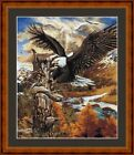 FLIGHT OF THE EAGLE -  14 COUNT X STITCH CHART (DMC THREADS) FREE PP WORLDWIDE