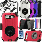 Shockproof Dirt Proof Hard Cover Case For Samsung Galaxy S3 + Car Charger Bundle
