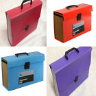 24 Pocket Expanding Box File Organiser A4 Documents Paper Foolscap Folder Case