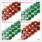 """Fashion 25mm Coin Banded Agate Gemstone Jewelry Making Loose Beads Strand 15"""""""