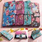 Flower Flip ID Card Wallet Leather Case Cover Stand For Huawei Ascend G6 LTE 4G