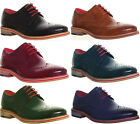 012090 Justin Reece Wing Tip Laceup Brogues Designer Look Leather