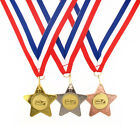 45mm Metal Dominoes Star Medal-Gold, Silver or Bronze-FREE POSTAGE-FREE ENGRAVIN