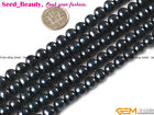 Round 7-8mm White Black Pink Freshwater Pearl Gemstone Jewelry Making Beads 15""