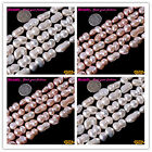 "Natural Peanut Shap White Pink Freshwater Pearl Jewelry Making Beads15""10x14mm"
