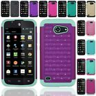 For Huawei Tribute Fusion 3 Y536A1 Hybrid Hard Diamond Case Skin Phone Cover