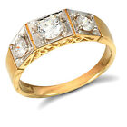 Gents 9ct Yellow Gold Trilogy Ring