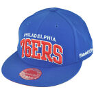 NBA Mitchell Ness TQ40 Philadelphia 76ers Arch Flat Bill Fitted Hat Cap