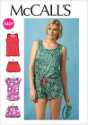 McCall's 6848 Easy Sewing Pattern to MAKE Summer Top Shorts & Romper + Eye Mask