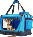 Andrew James Portable Folding Pet Carrier Fabric Dog Cat Travel Bag Crate Cage