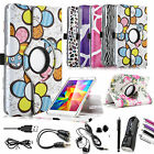 360 Rotating PU Leather Case Cover For Samsung Galaxy Tab 4 7 inch T230 + Bundle
