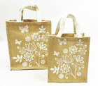 Brown Canvas Bag Mothers Day Gift Wrap Present With Handles Small Medium Large