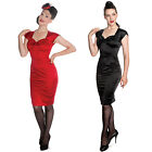 Hell Bunny New Womens Angie 50s Retro Fitted Wiggle Pencil Party Pin Up Dress