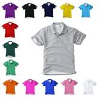 Mens Womens Solid Cotton Casual Polo Collared Short Sleeve TShirts Plain Tee Top