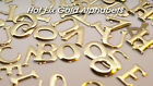 Set 4 of a Kind Hot Fix Iron-On Gold Letters (12mm in Height each) Letter N-Z