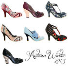 Irregular Choice New Ladies Vintage Retro Kitsch 1950s Style Heels Shoes