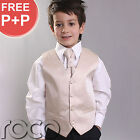 BOYS GOLD CHAMPAGNE 4PC PAGE BOY WEDDING WAISTCOAT SUIT