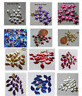 144 STAR & LEAF Shaped Hotfix Metal  Nailheads - Stunning Colours - FREE POSTAGE