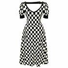 Voodoo Vixen 60s Style Black and White Checked Party Dress