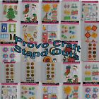 Provo Craft Stand Outs Stickers Scrapbooking You Choose Holidays School Tea ++