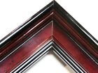 "1 3/4"" Wide High Gloss Cherry Plein Air Wide Picture Frame-Custom Standard Size"