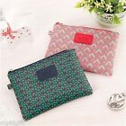 Pattern Pouch Flat [S] Cosmetic Makeup Card Wallet Case Bag Storage Organizer
