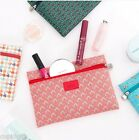 Pattern Pouch Flat [M] Cosmetic Makeup Card Wallet Case Bag Storage Organizer