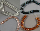 FIRE-POLISHED CZECH GLASS FACETED WHEEL RONDELLE BEADS 6-10MM YOU CHOOSE COLOR