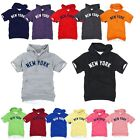 NY New York Yankees Light Cotton Hooded Short sleeve tshirt Hoodie Hoody Top