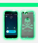Incoming Call LED Multicolor Blink Transparent Durable Case for iPhone 6 6 Plus