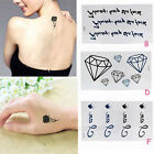 Unisex Women DIY Sexy Body Art Stickers Tattoos Stickers Temporary Tattoos 1pcs