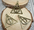 lots 10pcs exquisite two-sided triangle harry potter charm pendant 32x31mm