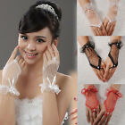 Sexy Wrist Fingerless Lace Short Gloves Dress Wedding Evening Party Bridal Dress