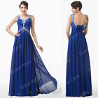 New Full-Length Chiffon Beaded Cocktail Prom Bridesmaid Evening Wedding Dresses