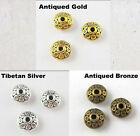 100Pc Tibet Silver,Gold,Bronze Tone Tiny Crafts flying saucer Spacer Beads 7mm