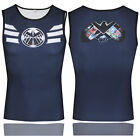 Mens Superhero Vest Sports Jersey Compression Shirt Jersey Tight Tank Tops Tee