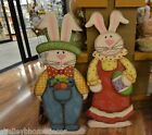 Standing Metal cut out Rabbit Boy or Girl Easter Spring decoration hh95654 NEW